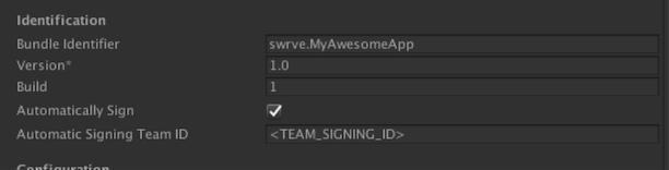 Unity app bundle identifier