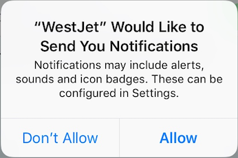 push notification permission dialog