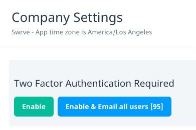 Company settings
