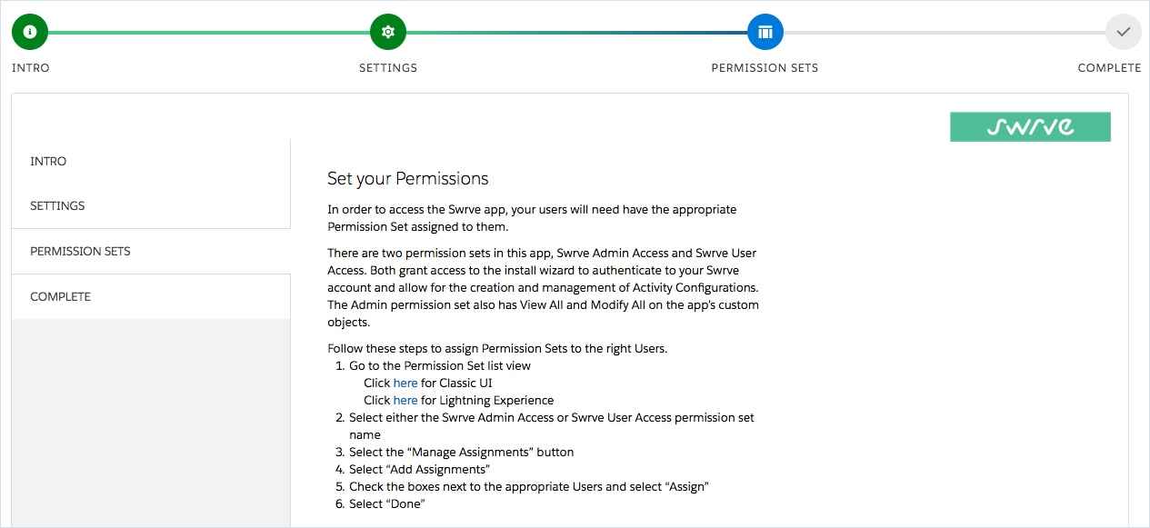 Steps for setting your permissions