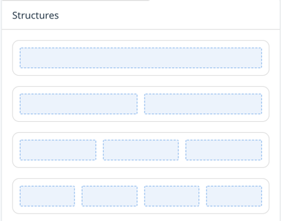 Template content structures