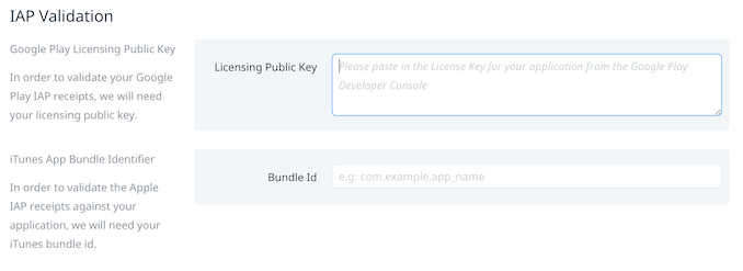 Google Play Licensing public key