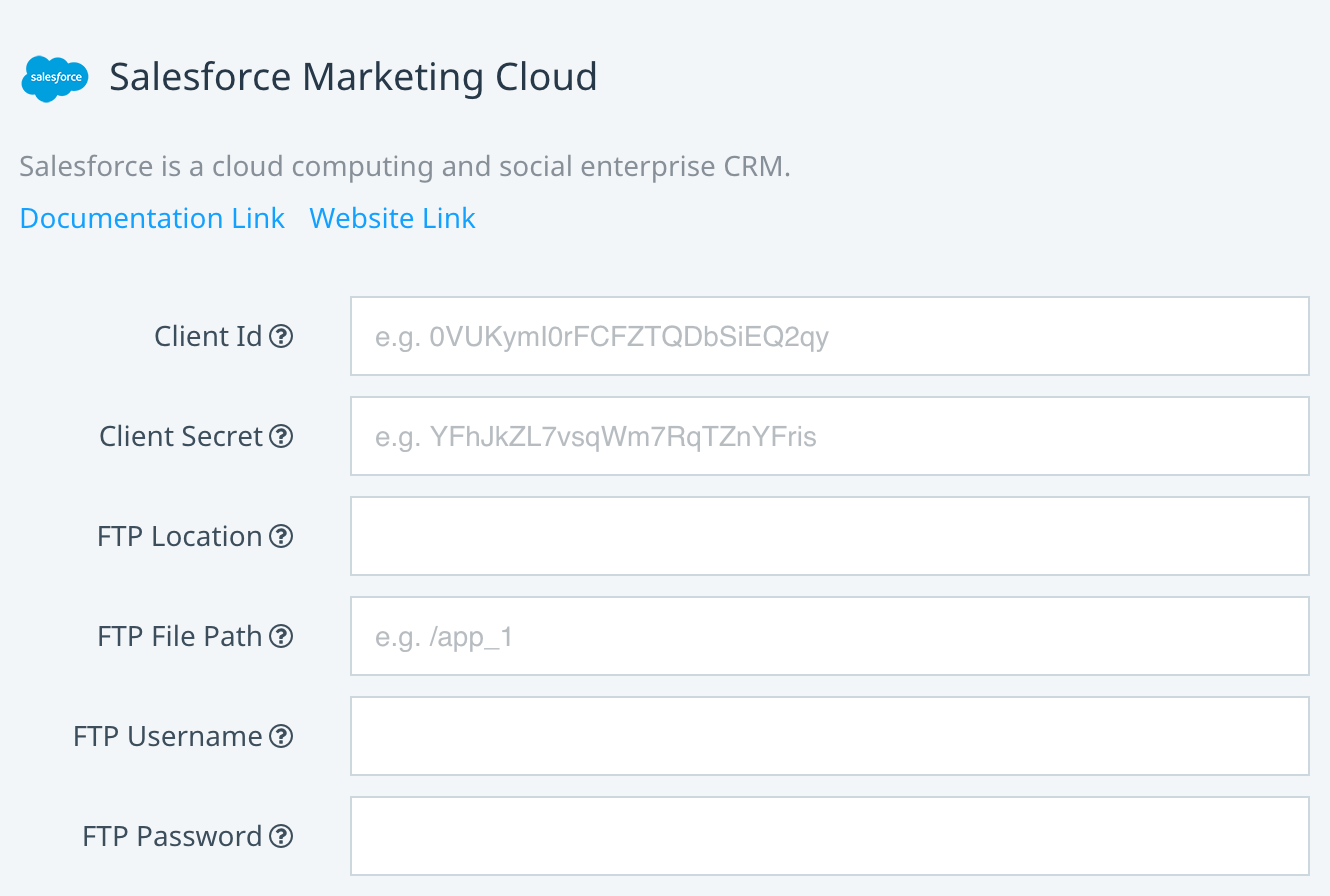 Salesforce Marketing Cloud Adaptor configuration