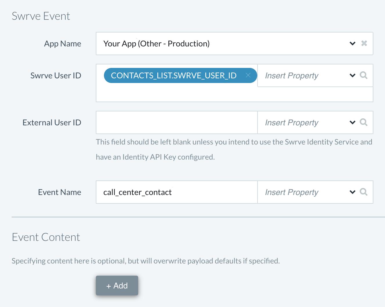 Configure Track Event activity