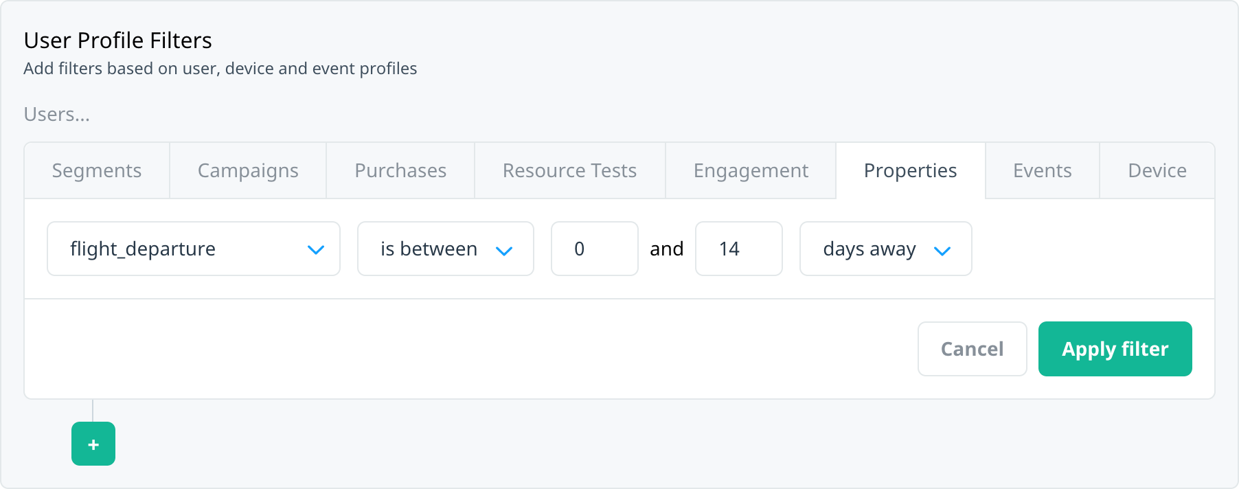 Targeting Date-Time Properties on the User Profiles filter