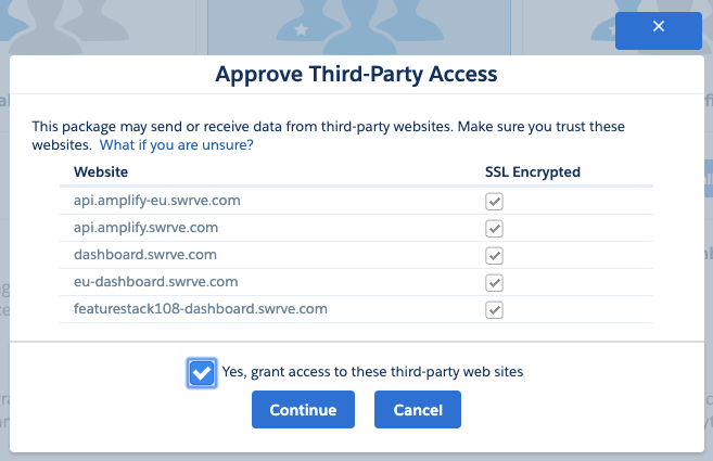 Approve third-party access permissions