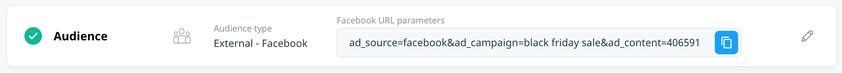 audience block with facebook url parameters
